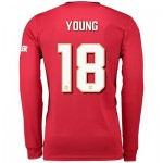 Manchester United Cup Home Shirt 2019 - 20 - Long Sleeve with Young 18 printing