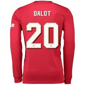 Manchester United Cup Home Shirt 2019 - 20 - Long Sleeve with Dalot 20 printing