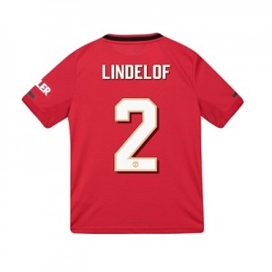 Manchester United Cup Home Shirt 2019 - 20 - Kids with Lindelof 2 printing
