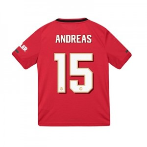 Manchester United Cup Home Shirt 2019 - 20 - Kids with Andreas 15 printing