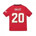 Manchester United Cup Home Shirt 2019 - 20 - Kids with Dalot 20 printing