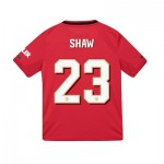 Manchester United Cup Home Shirt 2019 - 20 - Kids with Shaw 23 printing