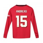 Manchester United Cup Home Shirt 2019 - 20 - Kids - Long Sleeve with Andreas 15 printing
