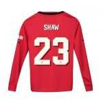 Manchester United Cup Home Shirt 2019 - 20 - Kids - Long Sleeve with Shaw 23 printing