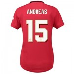 Manchester United Cup Home Shirt 2019 - 20 - Womens with Andreas 15 printing