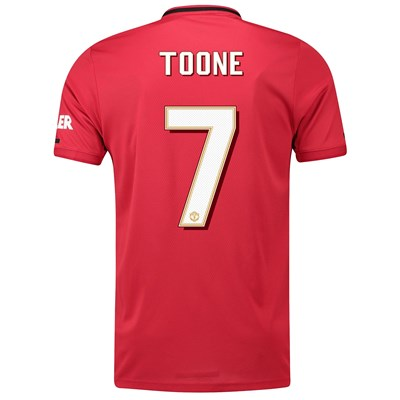 Manchester United Cup Home Shirt 2019 - 20 with Toone 7 printing