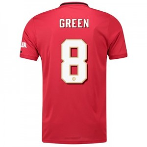 Manchester United Cup Home Shirt 2019 - 20 with Green 8 printing
