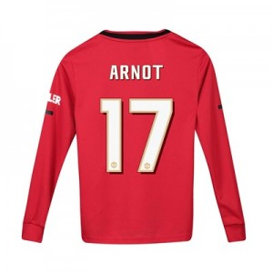 Manchester United Cup Home Shirt 2019 - 20 - Kids - Long Sleeve with Arnot 17 printing