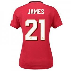 Manchester United Home Cup Shirt 2019 - 20 - Womens with James 21 printing