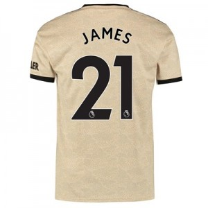Manchester United Away Shirt 2019 - 20 with James 21 printing