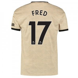 Manchester United Away Shirt 2019 - 20 with Fred 17 printing