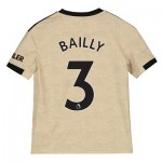 Manchester United Away Shirt 2019 - 20 - Kids with Bailly 3 printing