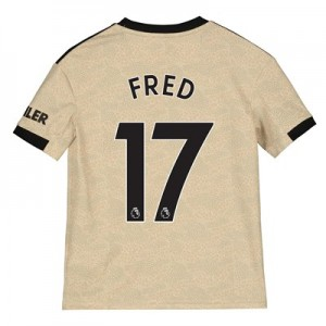 Manchester United Away Shirt 2019 - 20 - Kids with Fred 17 printing