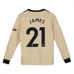 Manchester United Away Shirt 2019 - 20 - Kids - Long Sleeve with James 21 printing