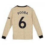 Manchester United Away Shirt 2019 - 20 - Kids - Long Sleeve with Pogba 6 printing