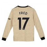 Manchester United Away Shirt 2019 - 20 - Kids - Long Sleeve with Fred 17 printing