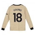 Manchester United Away Shirt 2019 - 20 - Kids - Long Sleeve with Young 18 printing