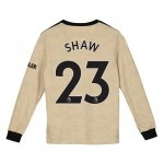 Manchester United Away Shirt 2019 - 20 - Kids - Long Sleeve with Shaw 23 printing