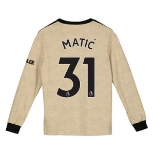 Manchester United Away Shirt 2019 - 20 - Kids - Long Sleeve with Matic 31 printing
