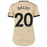 Manchester United Away Shirt 2019 - 20 - Womens with Dalot 20 printing