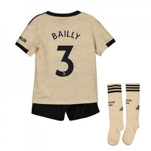 Manchester United Away Mini Kit 2019 - 20 with Bailly 3 printing