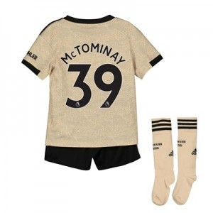 Manchester United Away Mini Kit 2019 - 20 with McTominay 39 printing