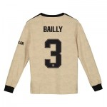 Manchester United Cup Away Shirt 2019 - 20 - Kids - Long Sleeve with Bailly 3 printing