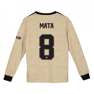 Manchester United Cup Away Shirt 2019 - 20 - Kids - Long Sleeve with Mata 8 printing