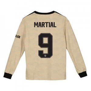 Manchester United Cup Away Shirt 2019 - 20 - Kids - Long Sleeve with Martial 9 printing