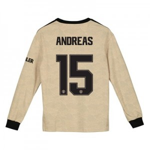 Manchester United Cup Away Shirt 2019 - 20 - Kids - Long Sleeve with Andreas 15 printing