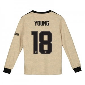 Manchester United Cup Away Shirt 2019 - 20 - Kids - Long Sleeve with Young 18 printing