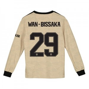 Manchester United Cup Away Shirt 2019 - 20 - Kids - Long Sleeve with Wan-Bissaka 29 printing