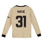 Manchester United Cup Away Shirt 2019 - 20 - Kids - Long Sleeve with Matic 31 printing