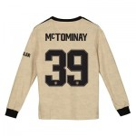 Manchester United Cup Away Shirt 2019 - 20 - Kids - Long Sleeve with McTominay 39 printing