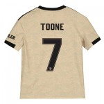 Manchester United Cup Away Shirt 2019 - 20 - Kids with Toone 7 printing