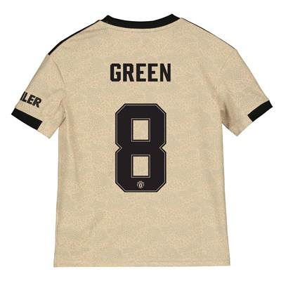 Manchester United Cup Away Shirt 2019 - 20 - Kids with Green 8 printing