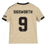 Manchester United Cup Away Shirt 2019 - 20 - Kids with Sigsworth 9 printing