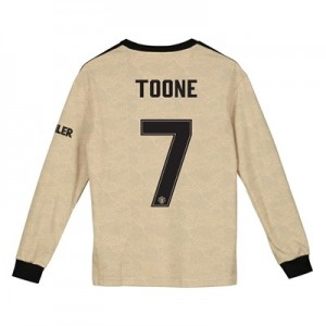 Manchester United Cup Away Shirt 2019 - 20 - Kids - Long Sleeve with Toone 7 printing