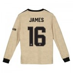 Manchester United Cup Away Shirt 2019 - 20 - Kids - Long Sleeve with James 16 printing