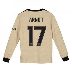 Manchester United Cup Away Shirt 2019 - 20 - Kids - Long Sleeve with Arnot 17 printing