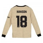 Manchester United Cup Away Shirt 2019 - 20 - Kids - Long Sleeve with Hanson 18 printing