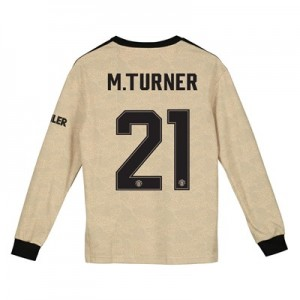 Manchester United Cup Away Shirt 2019 - 20 - Kids - Long Sleeve with M.Turner 21 printing