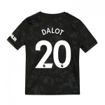 Manchester United Third Shirt 2019 - 20 - Kids with Dalot 20 printing