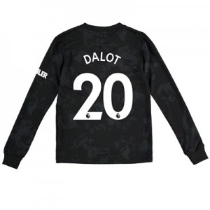 Manchester United Third Shirt 2019 - 20 - Kids - Long Sleeve with Dalot 20 printing