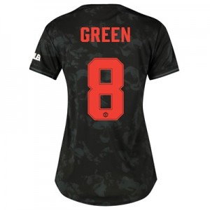 Manchester United Cup Third Shirt 2019 - 20 - Womens with Green 8 printing
