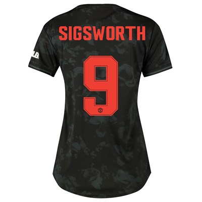 Manchester United Cup Third Shirt 2019 - 20 - Womens with Sigsworth 9 printing
