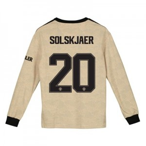 Manchester United Cup Away Shirt 2019 - 20 - Kids - Long Sleeve with Solskjaer 20 printing