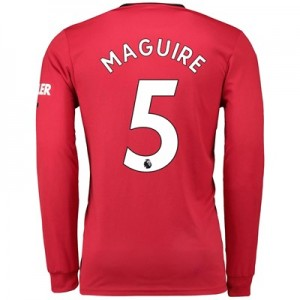 Manchester United Home Shirt 2019 - 20 - Long Sleeve with Maguire 5 printing