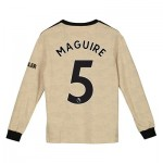 Manchester United Away Shirt 2019 - 20 - Kids - Long Sleeve with Maguire 5 printing