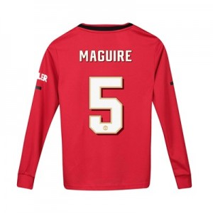 Manchester United Cup Home Shirt 2019 - 20 - Kids - Long Sleeve with Maguire 5 printing
